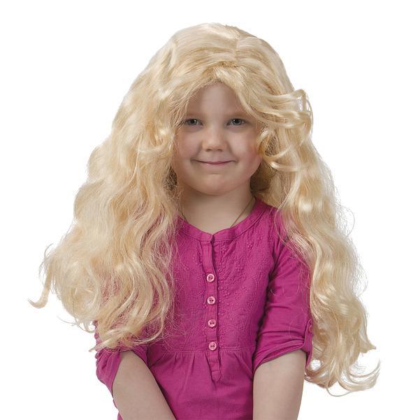 Lockig Peruk Blond Barn