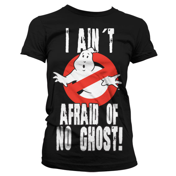 Ghostbusters I Ain't Afraid T-Shirt Dam Svart
