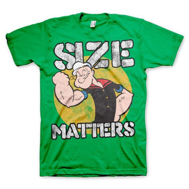 Popeye Size Matters T-Shirt Grön thumbnail
