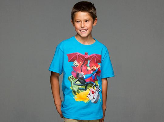 Minecraft Sam Cube Battle Barn T-shirt