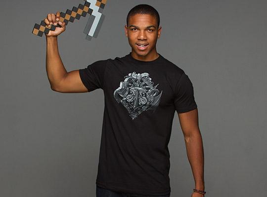 Minecraft Heroes Crest Premium T-shirt