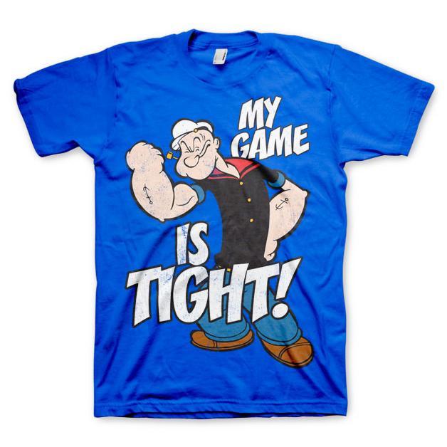 Popeye - Game Is Tight T-Shirt Blå thumbnail