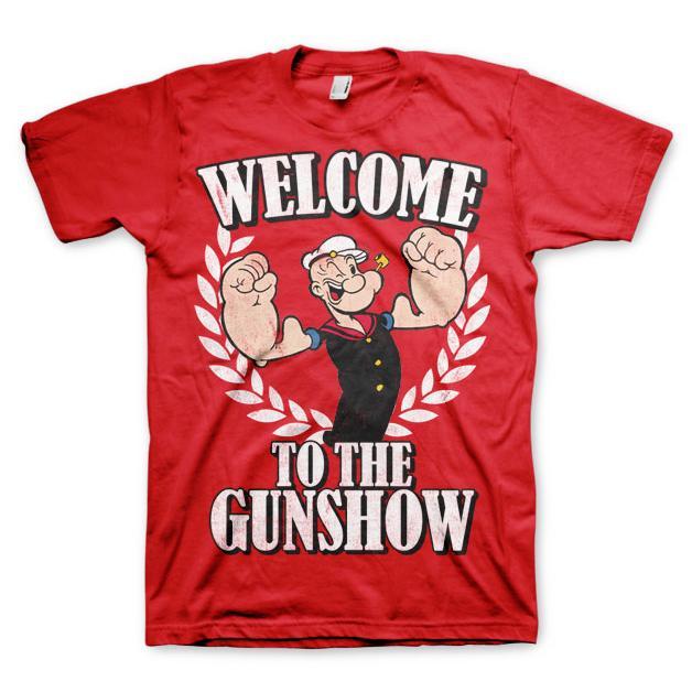 Popeye - Welcome To The Gunshow T-Shirt Röd thumbnail