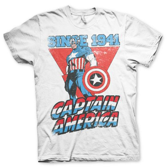 Captain America Since 1941 T-Shirt Vit thumbnail