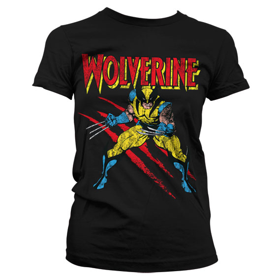 Wolverine Scratches Girly T-Shirt Svart thumbnail