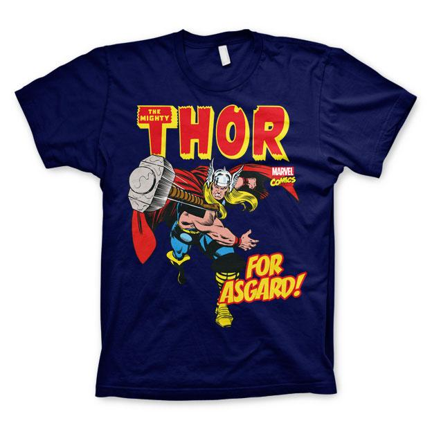 The Mighty Thor - For Asgard! T-Shirt Blå thumbnail