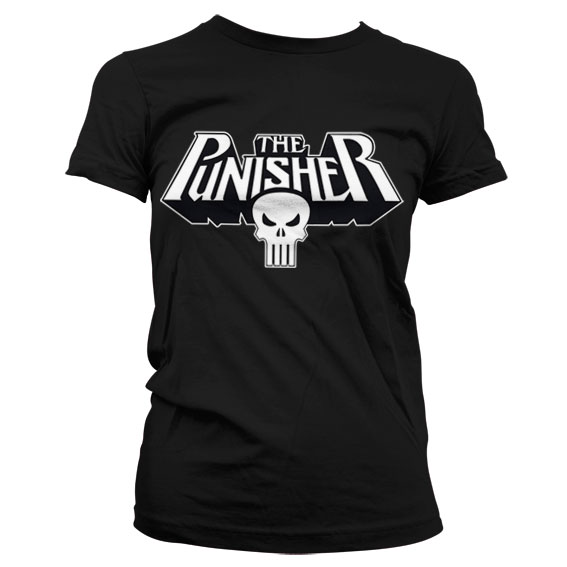 The Punisher Logo Girly T-Shirt Svart thumbnail