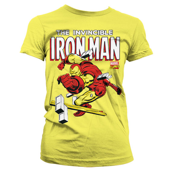 The Invincible Iron Man Girly T-Shirt Gul thumbnail