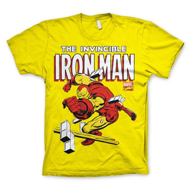The Invincible Iron Man T-Shirt Gul thumbnail