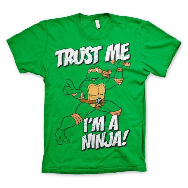TMNT - Trust Me, I'm A Ninja T-Shirt! Grön thumbnail