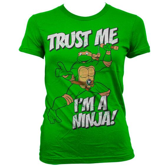 TMNT - Trust Me, I'm A Ninja Girly T-Shirt Grön thumbnail