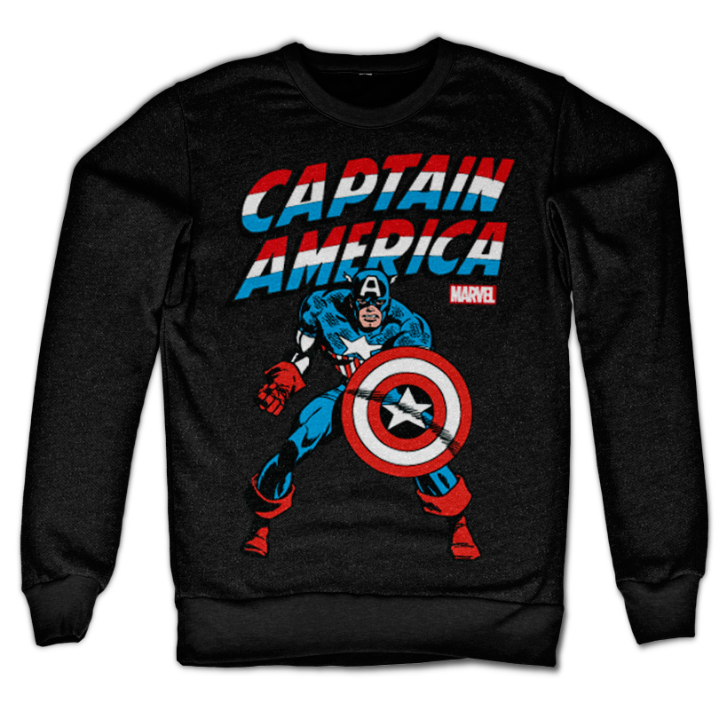 Captain America Sweatshirt Svart thumbnail