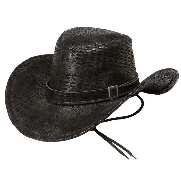 Cowboyhatt Svart Ormskinn
