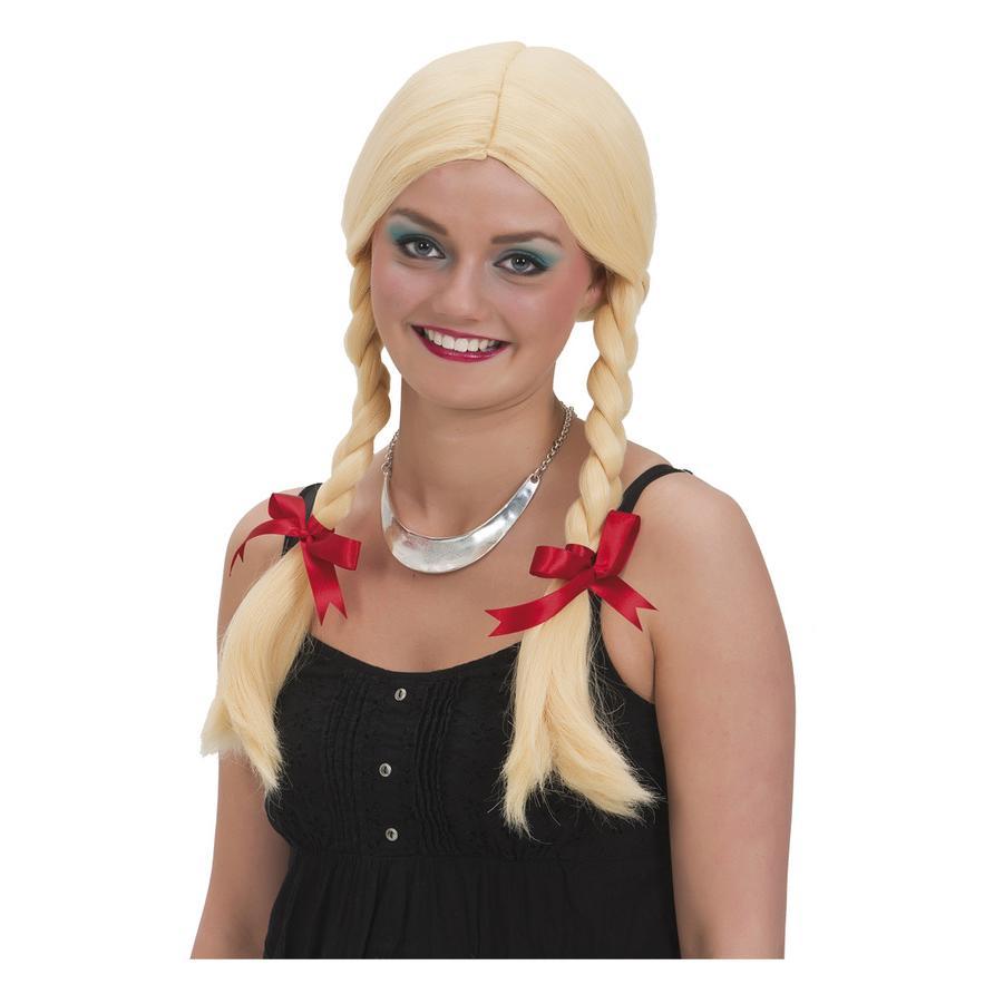 Peruk Blond med Flätor