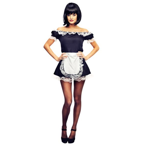 Sexig French Maid Maskeraddräkt