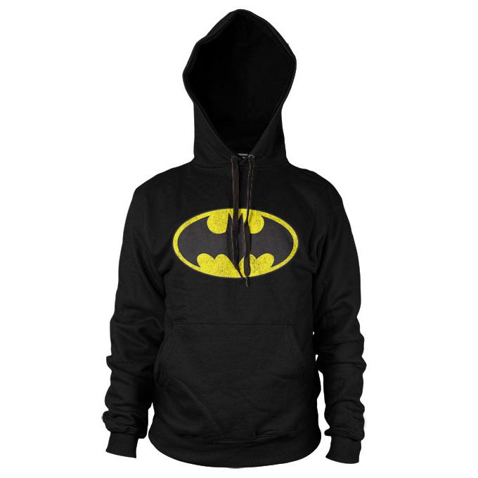 Batman Distressed Logo Hoodie