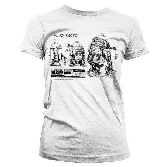 Star Wars R2-D2 Blueprint Dam T-Shirt