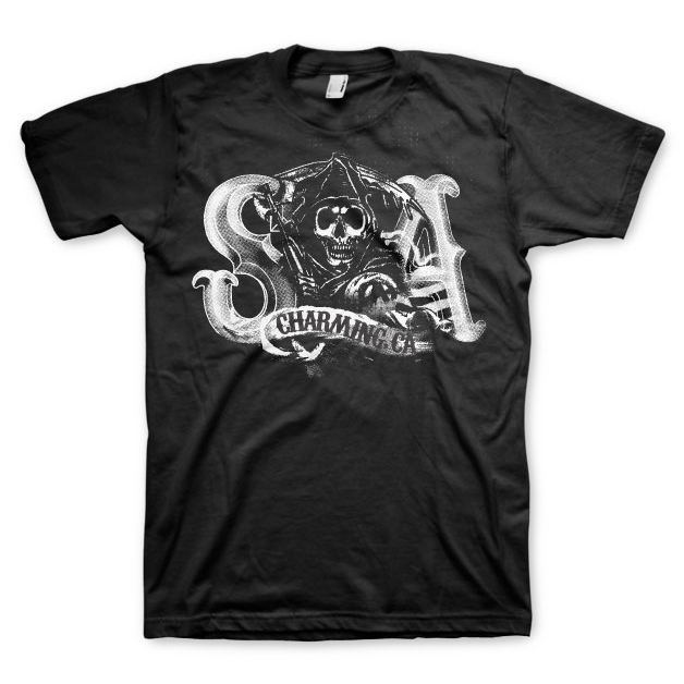 Sons Of Anarchy SOA Charming Reaper T-Shirt thumbnail