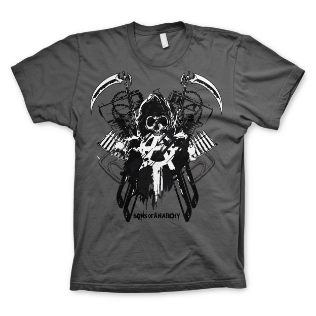 Sons Of Anarchy SOA Engine Reaper T-Shirt thumbnail