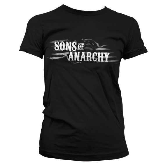 Sons Of Anarchy SOA Flag Logo Girly T-Shirt thumbnail