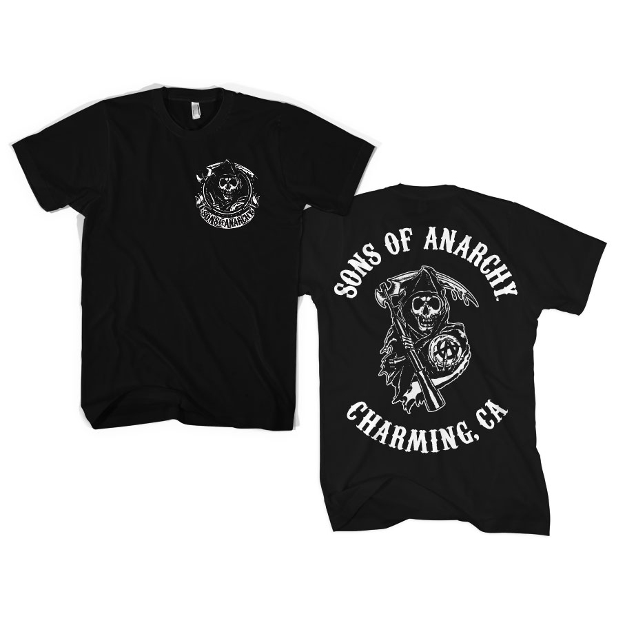 Sons Of Anarchy SOA Full CA Backprint T-Shirt thumbnail