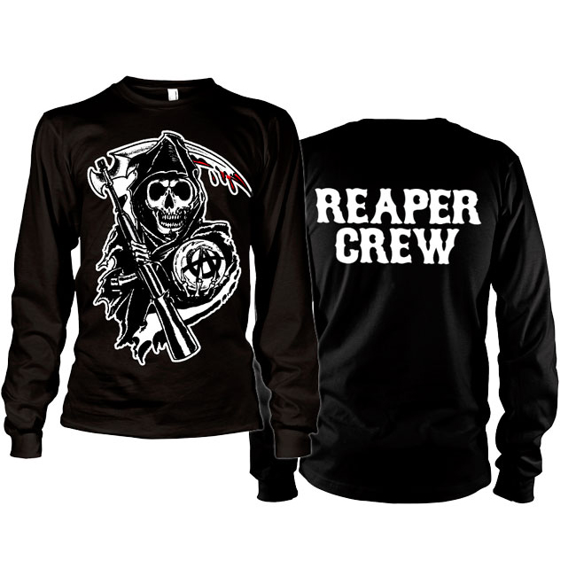 Sons Of Anarchy SOA Reaper Crew Long Sleeve T-Shirt thumbnail