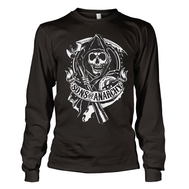 Sons Of Anarchy SOA Scroll Reaper Long Sleeve T-Shirt thumbnail