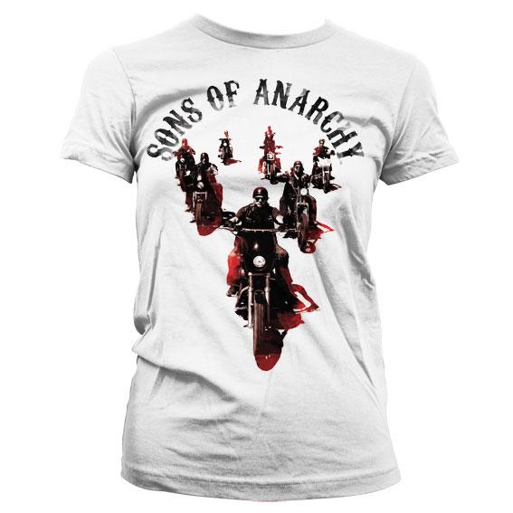 Sons Of Anarchy Motorcycle Gang Girly T-Shirt thumbnail
