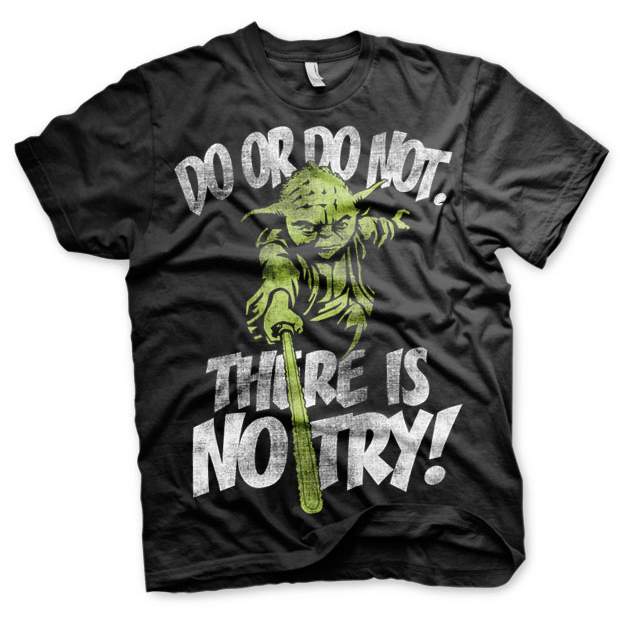 Star Wars There Is No Try - Yoda T-Shirt thumbnail