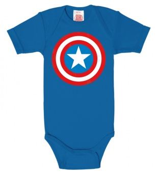 Marvel Captain Amerika Sköld Babybody thumbnail
