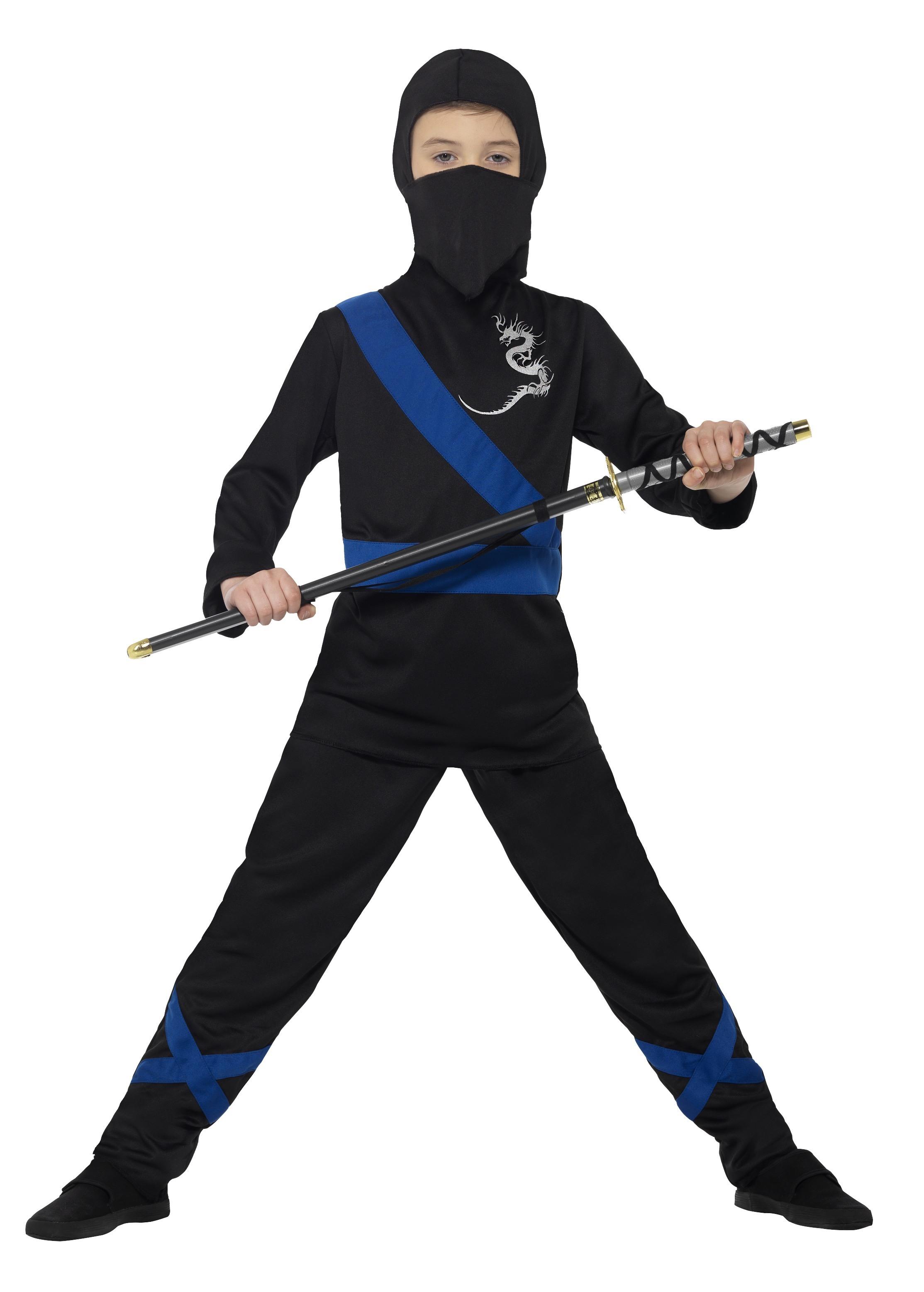Ninja Blå/Svart Maskeraddräkt Barn