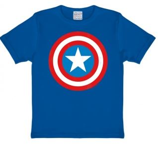 Marvel Captain America Sköld T-Shirt Barn Blå thumbnail