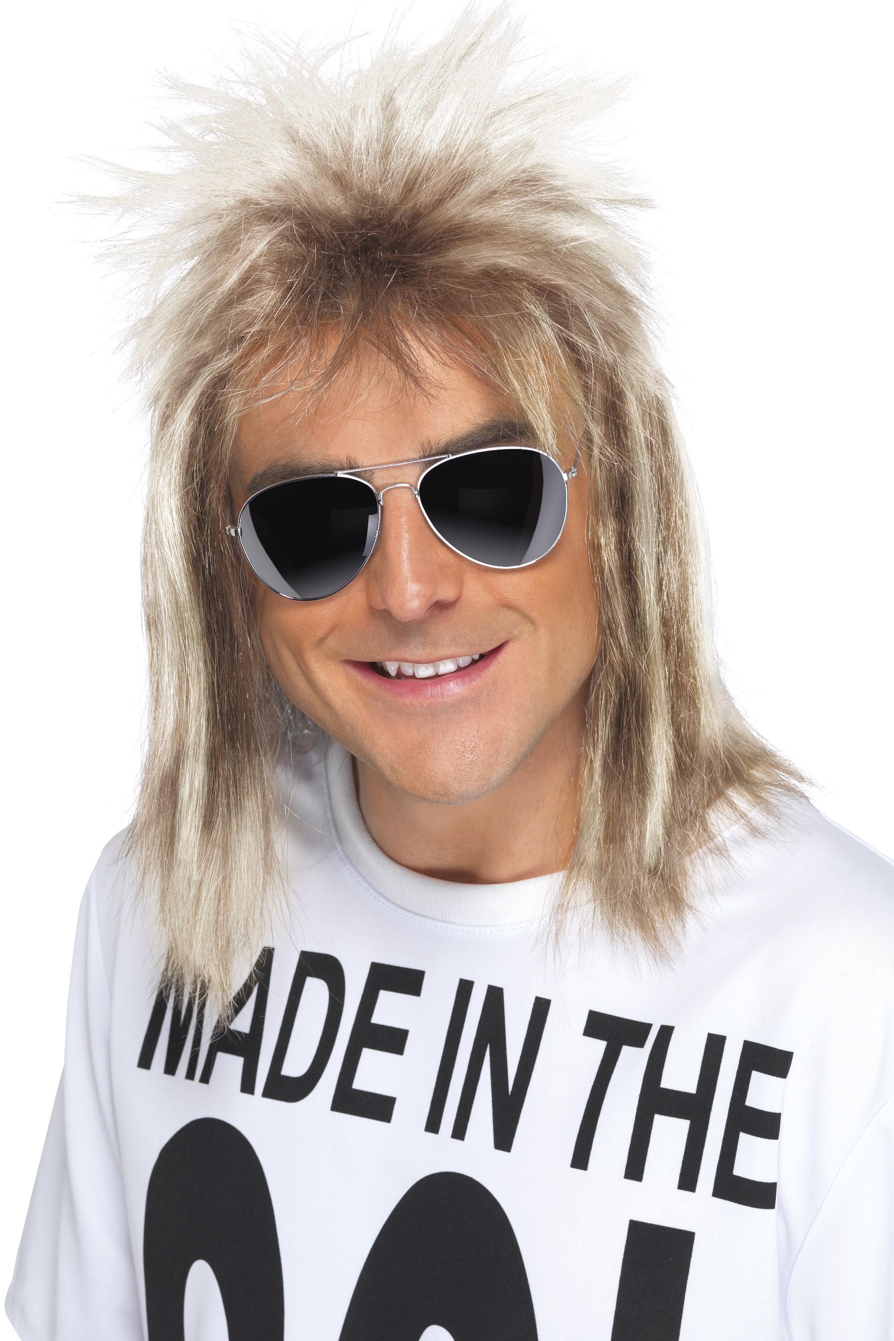 80-tals Peruk Blond Hockeyfrilla