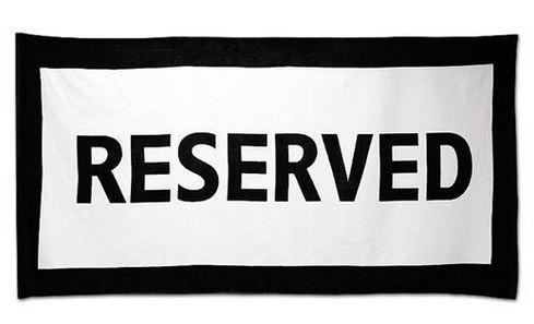 Reserverad Handduk