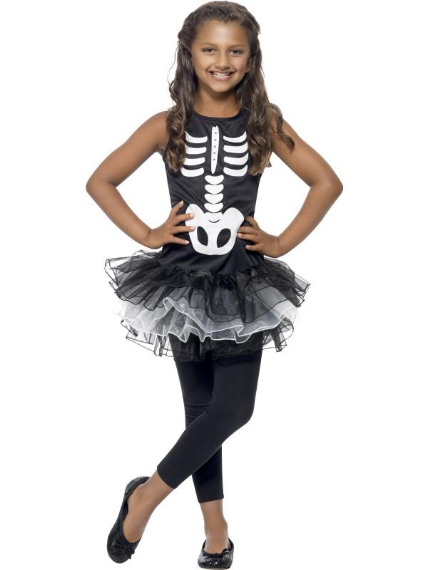 Skelettklänning Maskeraddräkt Barn