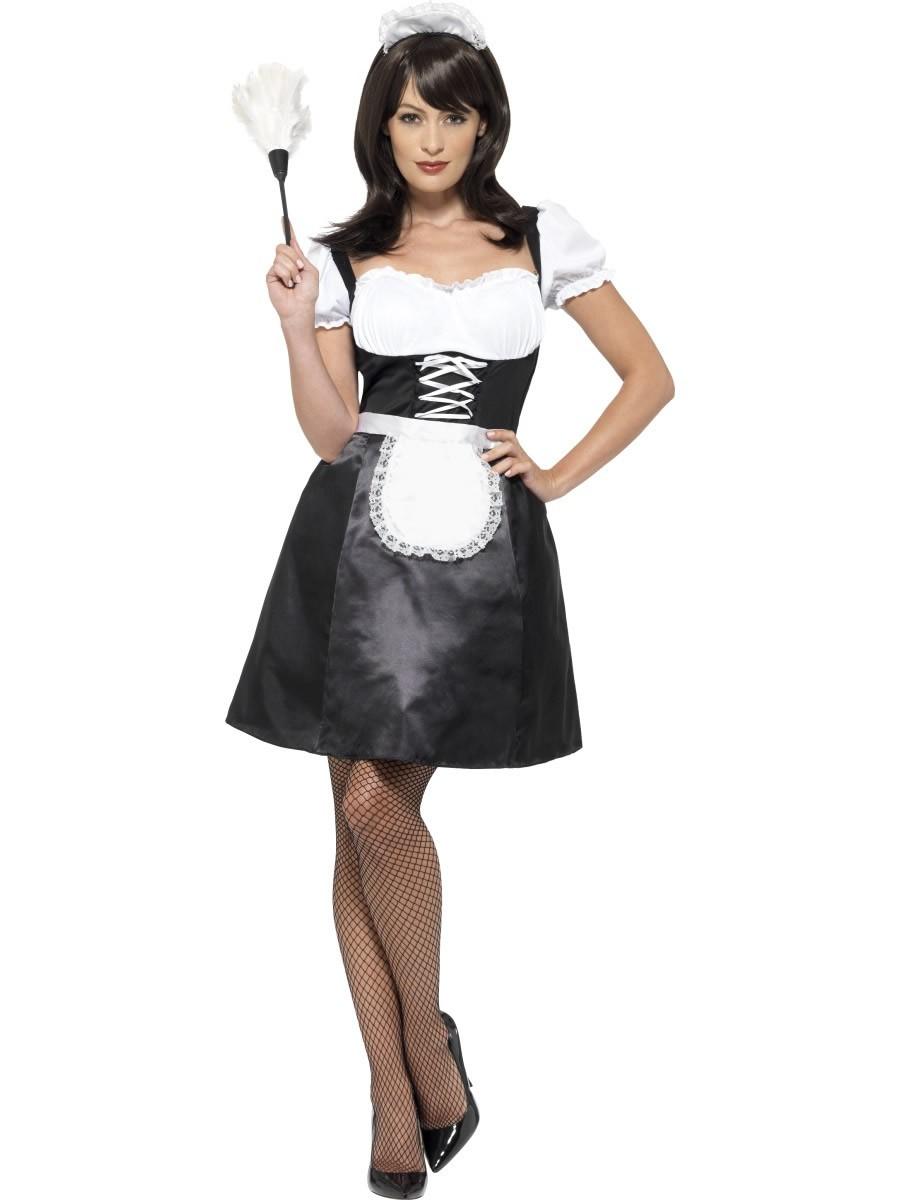 Maskeradkläder Vuxna - Frechmaid Maskeraddräkt med klänning