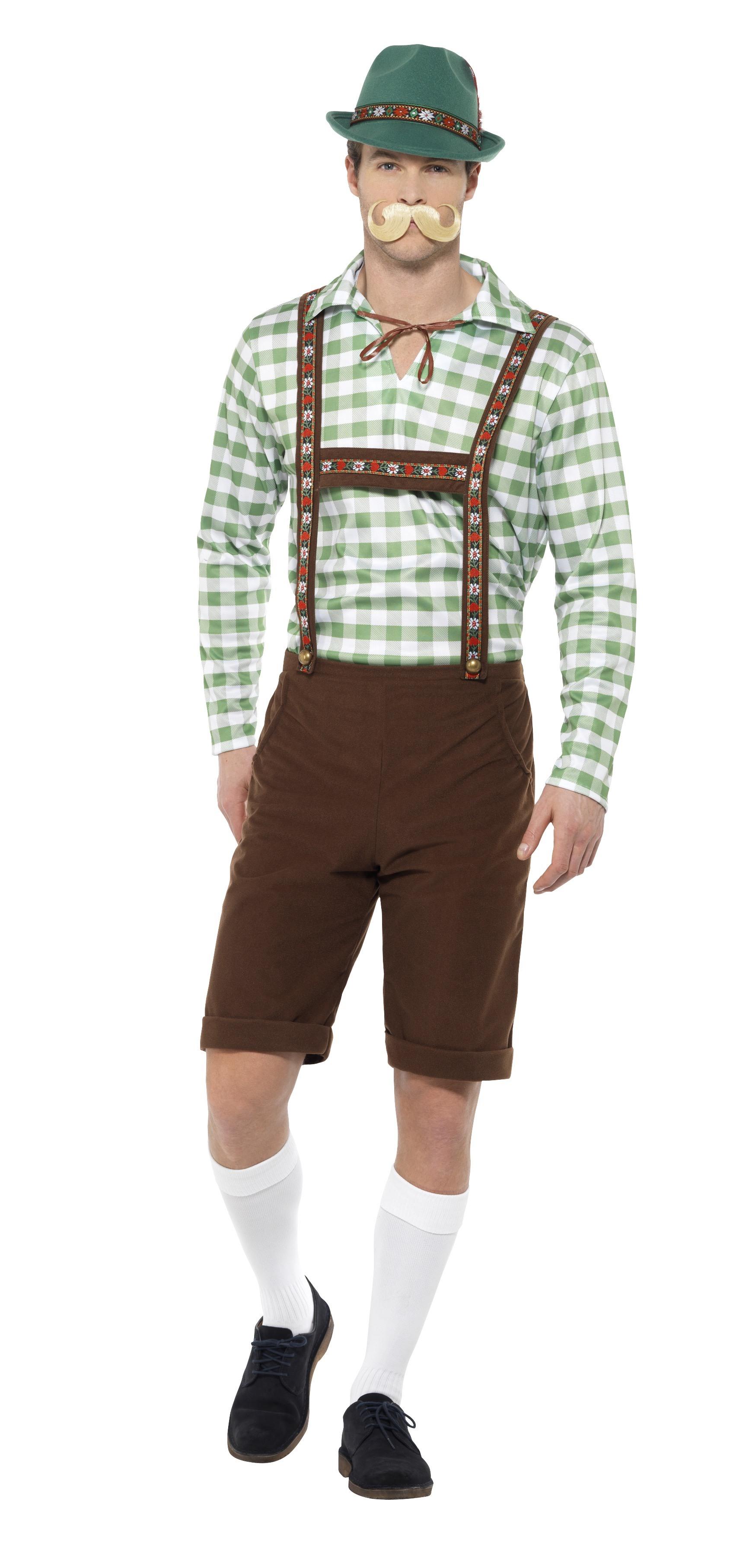 En härlig rutig skjorta och ett par snygga lederhosen är en given succé på  den stora festen. Information om Alpinsk Bavarisk Maskeraddräkt Oktoberfest  ... 79710b1d897ec