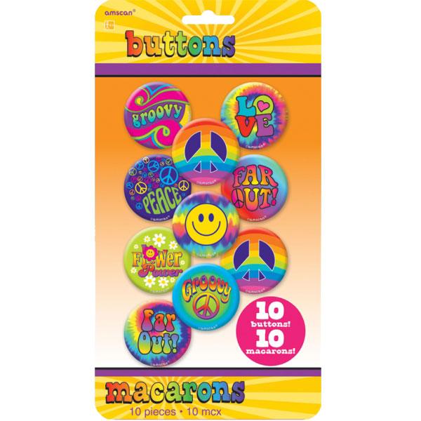 Hippie 60-tal Märke 10-Pack