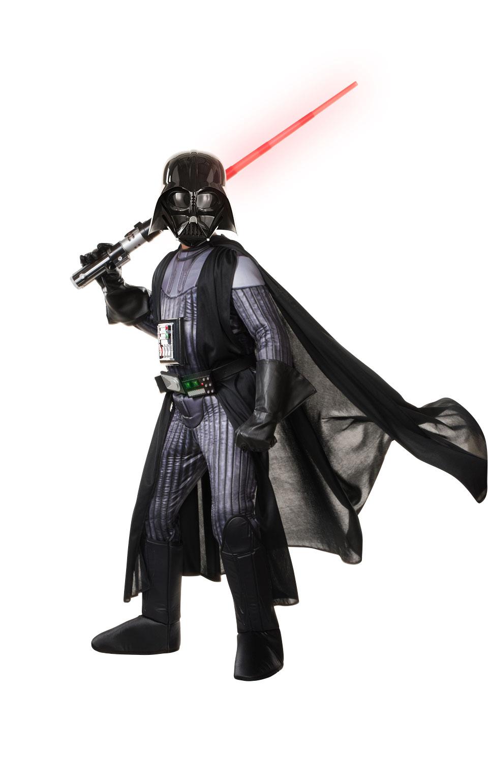 Darth Vader Deluxe Maskeraddräkt Barn thumbnail