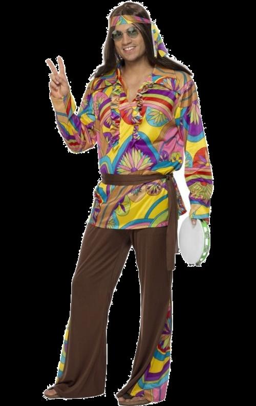 Psykedelisk hippiesnubbe-dräkt
