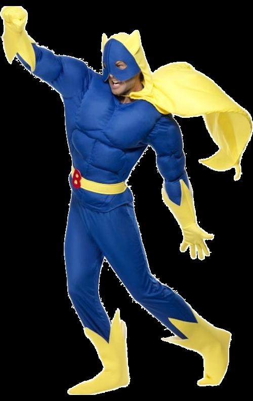 Skumfylld Bananman-dräkt
