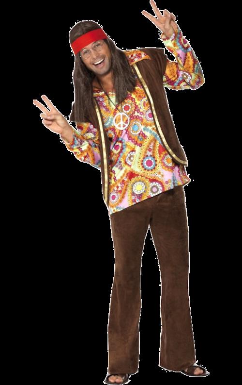 Psykedelisk hippiedräkt 60-tal