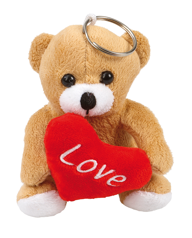 """Nyckelring mjukisbjörn """"Love"""" 10 cm"""