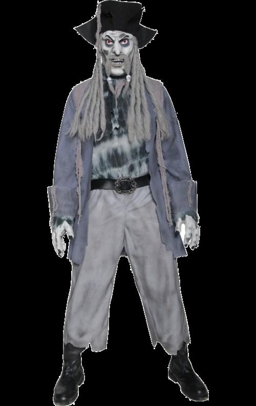 Piratzombie-spöke-dräkt herr