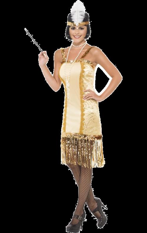 Gyllene flapper-dräkt