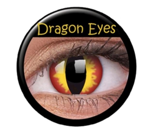 Färgade linser crazy drakögon