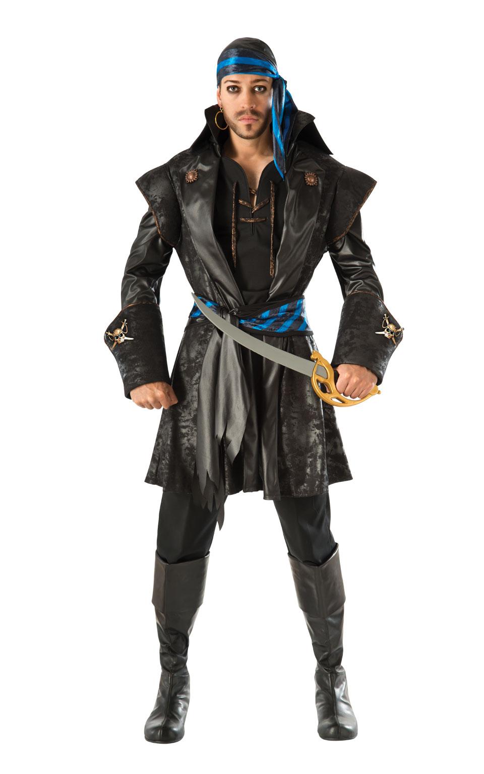 Maskeradkläder Vuxna - Pirat Maskeraddräkt Captain Black Heart
