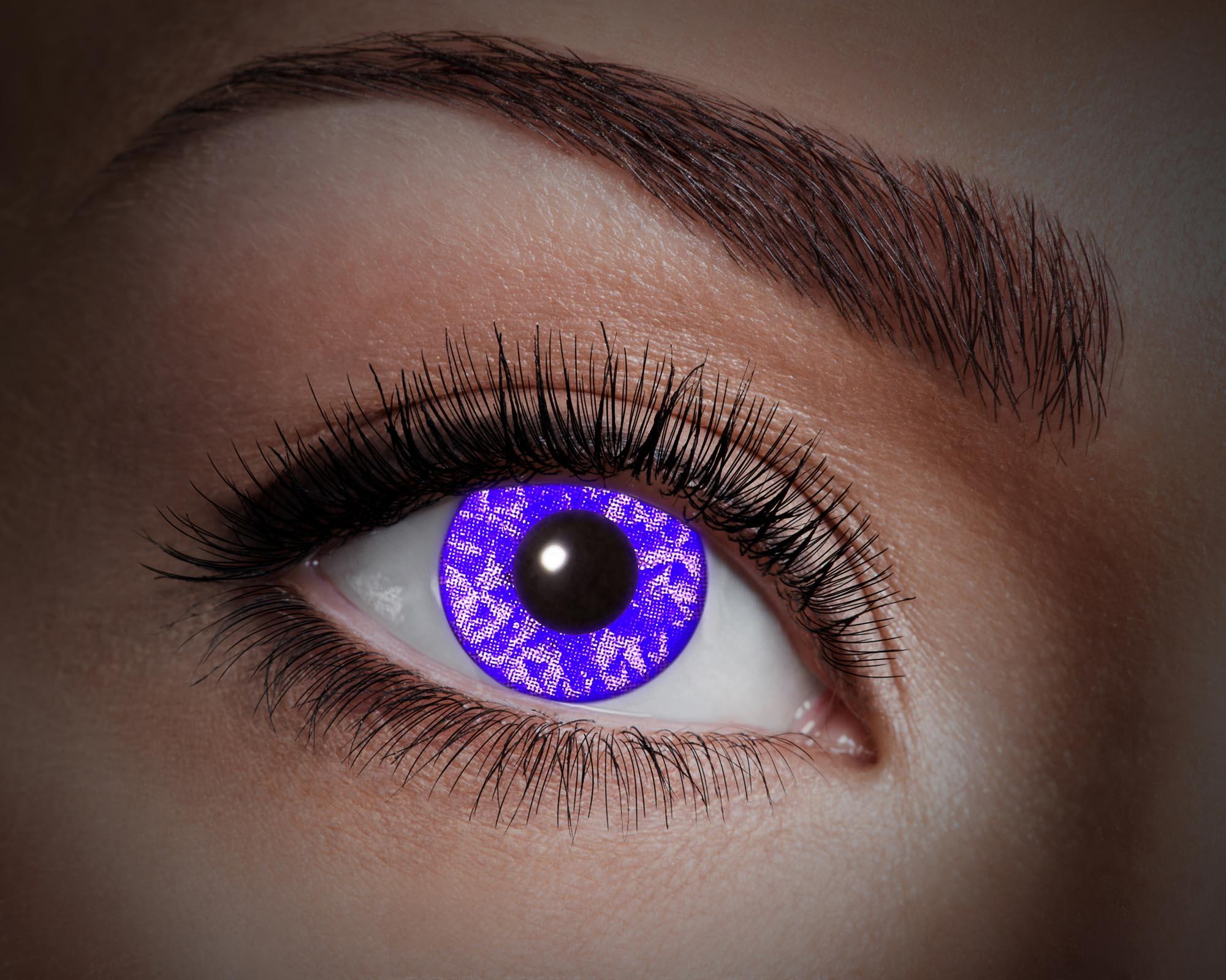 Färgade linser UV Violet Diamond