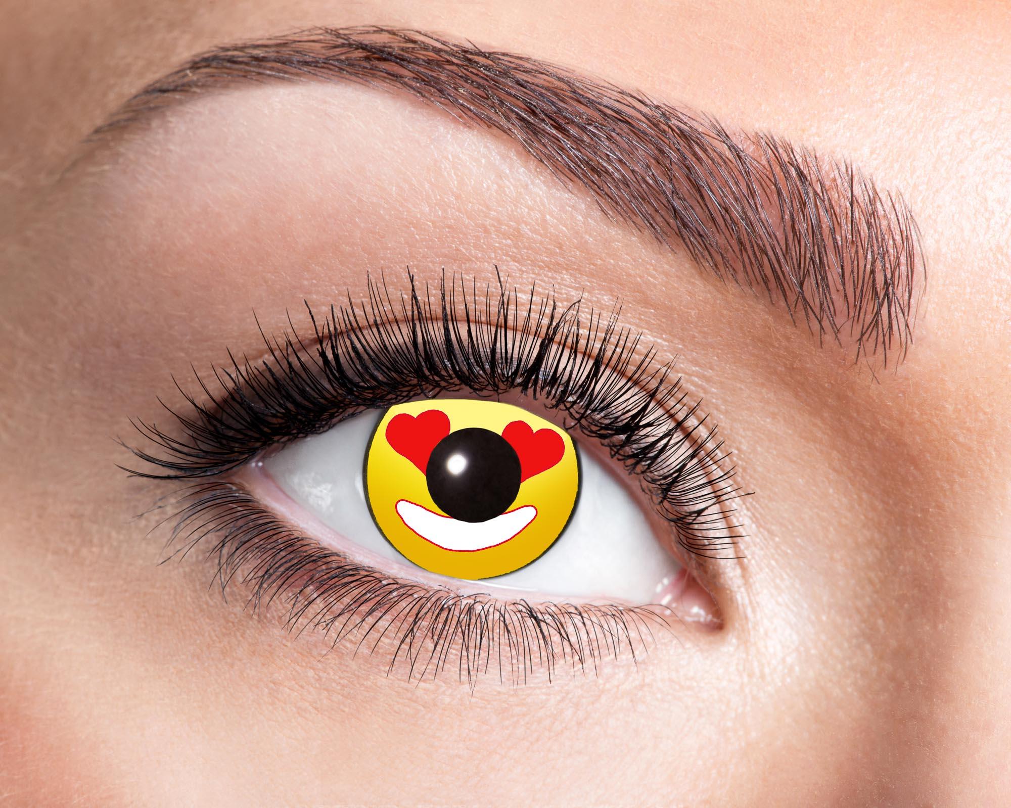 Färgade linser Heart Emoji