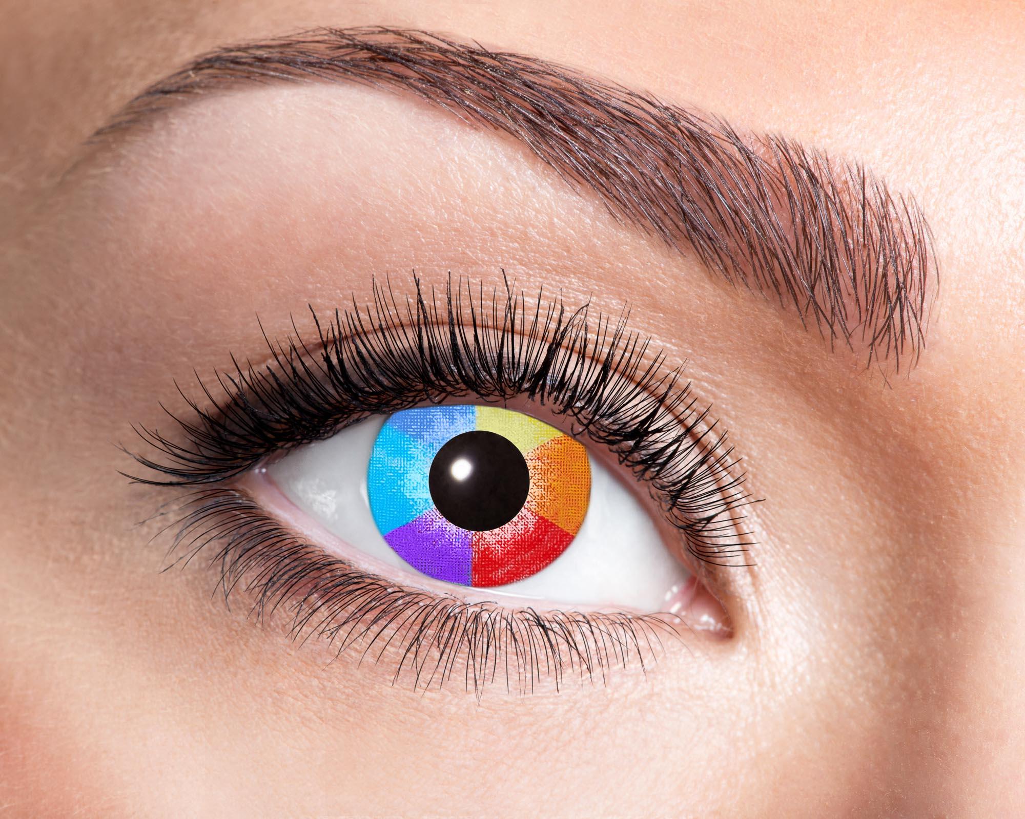 Färgade linser Rainbow